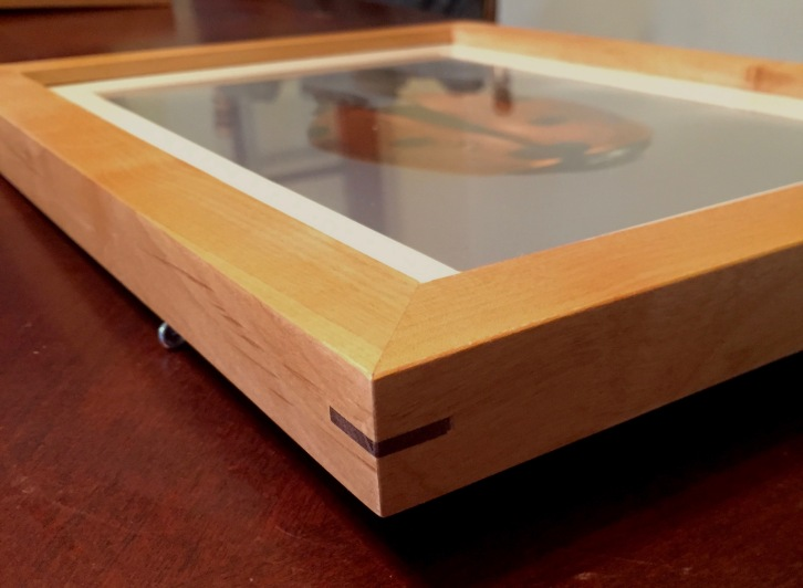 Maple Frame with Walnut Spline Detail